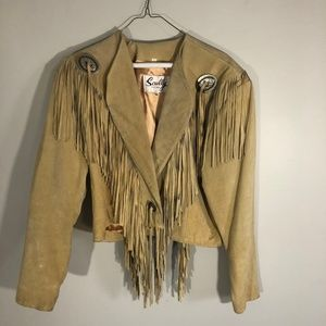 Vintage Scully Fringed Suede Leather Jacket